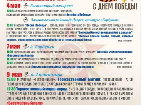 Мероприятия к 9 мая Ломоносовский район